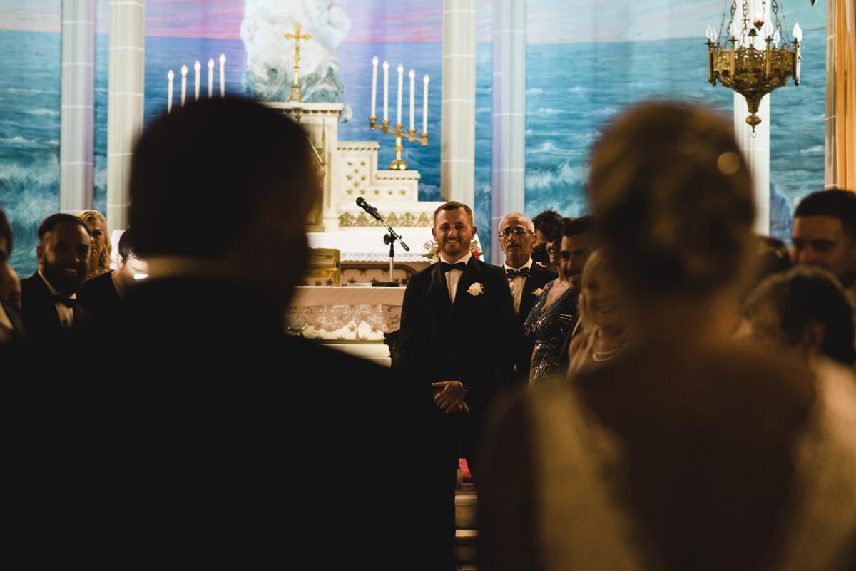 ceremonia boda iglesia stella maris en mar del plata por nostra fotografia